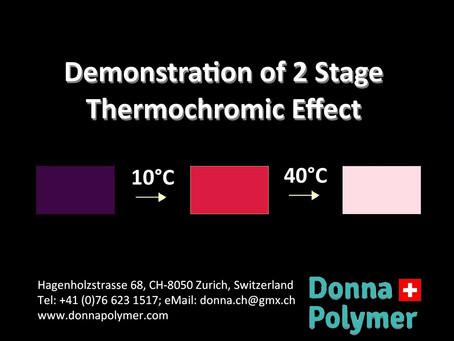 2-Stage Thermochromic Masterbatch: Purple - Orange - Yellow