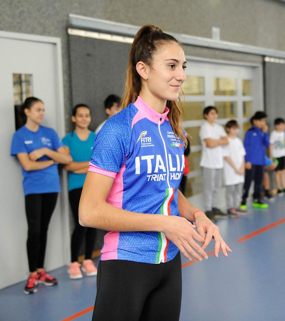 Valentina Rosamialia, campionessa italiana e svizzera di Triathlon
