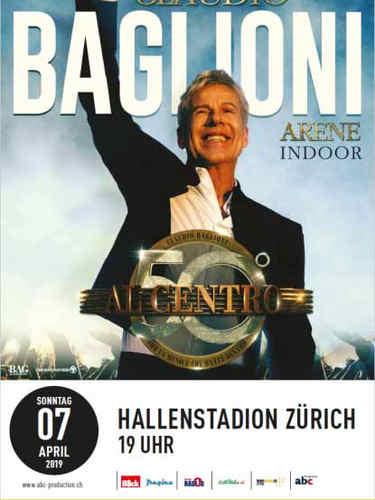 Claudio Baglioni in concerto a Zurigo