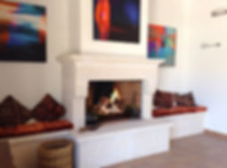 Fireplace in hall in house for sale Lecrin Valley