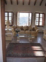 Entering guest sittingroom in House for sale Lecrin Valley