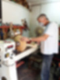 On the lathe, in the workshop of the Hacienda for sale in the Granada Province, Andalucia