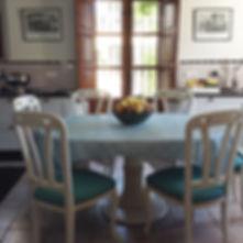 Kitchen to walled garden Siera Nevada