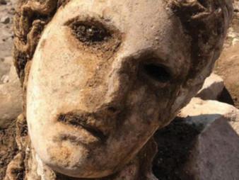 Bust of Bacchus Found Near Forum