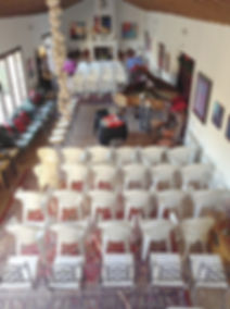 Hall ready for event in house for sale Lecrin Valley