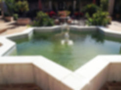 Star shaped water feature in Hacienda for sale in the Granada Province, Andalucia