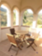 Seating area in the tower of Hacienda for sale in the Granada Province, Andalucia