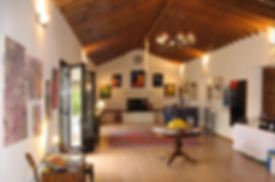 Art exhibition in house for sale Lecrin Valley