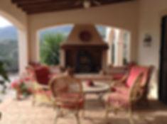 Hacienda for sale, terrace lounge