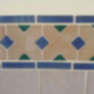 Handmade tiles in toilet off hall in house for sale Lecrin Valley