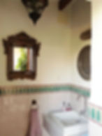 Toilet in courtyard of Hacienda for sale in the Granada Province, Andalucia