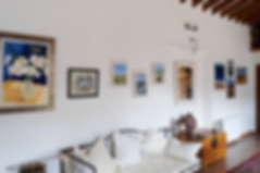 Art on walls of hall in house for sale Lecrin Valley