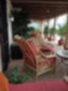 terrace seating area Hacienda for sale