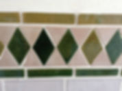 Hand made wall tiles in in the Verde room in House for sale Lecrin Valley