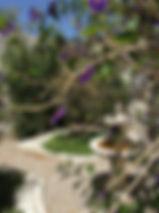 walled garden from gate Siera Nevada
