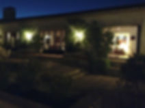 Courtyard at night in house for sale Lecrin Valley