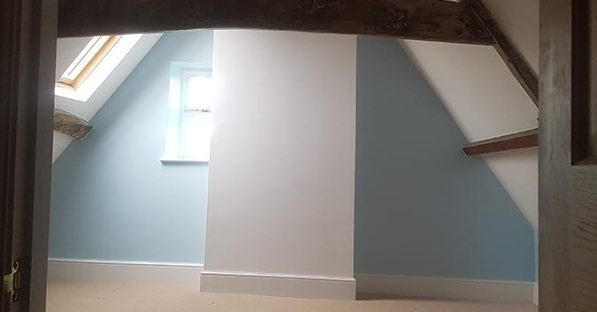 into the top right bedroom