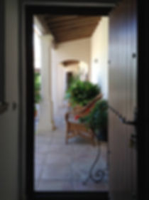 Door to courtyard from guest kitchen in House for sale Lecrin Valley