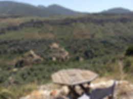 Table overlooking the valley at Hacienda for sale in the Granada Province, Andalucia
