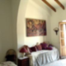 Painting and couch in the Morado room in House for sale Lecrin Valley