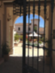 Gate to courtyard Hacienda for sale in the Granada Province, Andalucia