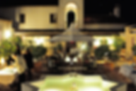 Nightime in the courtyard of Hacienda for sale in the Granada Province, Andalucia