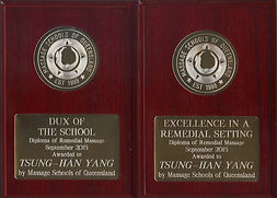 Hill Yang was the Dux of the School in Massage School of Queensland