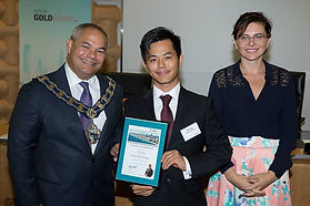 Hill Yang with Gold Coast Mayor