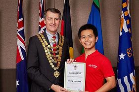 Hill Yang with Brisbane Mayor