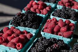 black & red berries