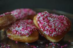 Glazed Doughnuts with Sprinkles