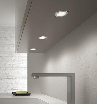 H | Vegghengte skap m/ innfelte LED-spotter (T)