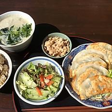 野菜餃子定食 Gyoza (Dumplings) set meal
