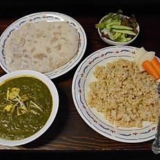 ほうれん草のカレー Palak Paneer with tofu