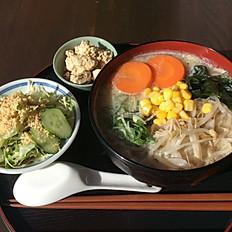 野菜ラーメンセット Vegetable Ramen set meal