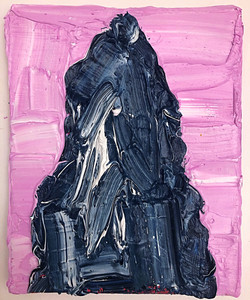 mountain with pink sky 27x22cm 2021