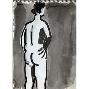 nude looking away