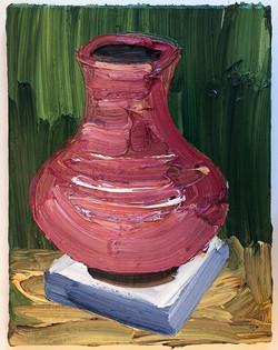 red vase 41x32cm 2021