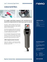 F1 medical sterile filters brochure