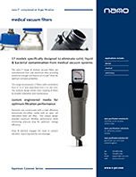 F1 medical vaccum filters brochure