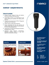 nano NF centrifugal water separator brochure