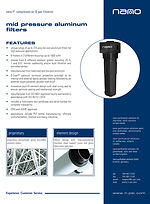 mid pressure compressed air and gas filter brochure