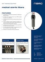 nano F1 medical sterile air filter brochure