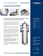 P1 stainless steel filters brochure