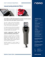 nano vacuum pump filters brochure