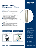 nano F4 high pressure stainless steel air and gas filter brochure