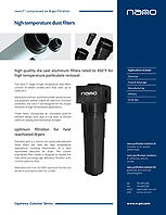 nano high temperature compressed air filters brochure
