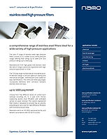 nano high pressure stainless steel filter brochure
