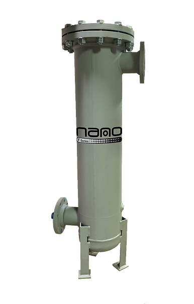 High Capacity Flanged Fabricated Compressed Air Filter