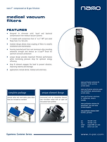 nano F1 medical vacuum filter brochure